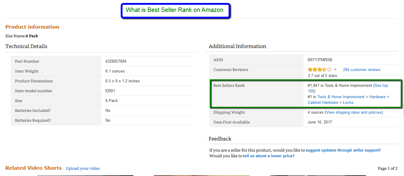 What is best seller rank on Amazon